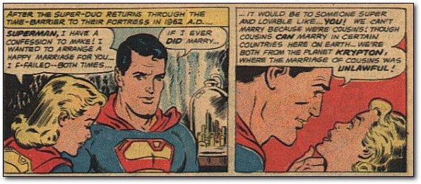 Superman quiere con su prima